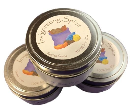 Picture of Invigorating Spice Soy Wax Candle Tin