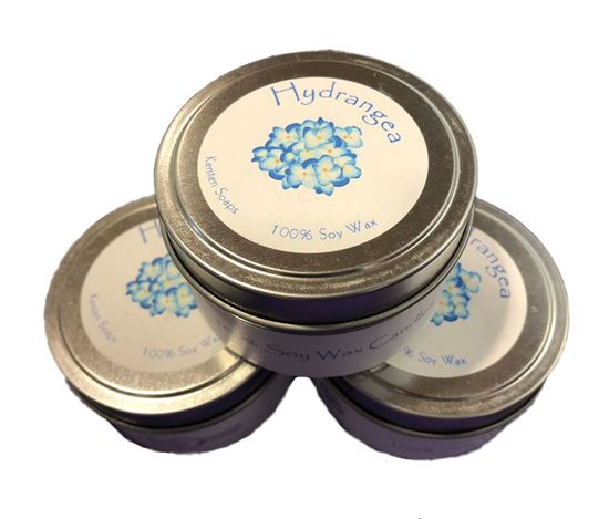 Picture of Hydrangea Soy Wax Candle Tin