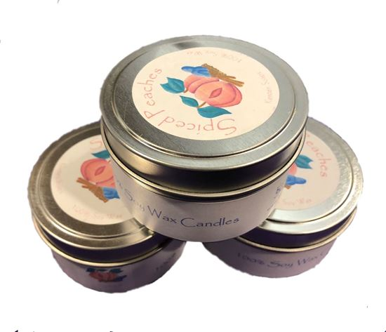Picture of Spiced Peaches Soy Wax Candle Tin