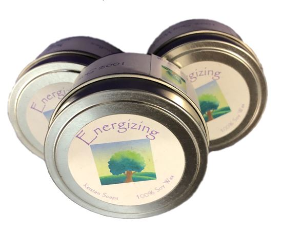 Picture of Energizing Soy Wax Candle Tin